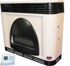 FÉG EXCLUSIVE 4.1i-1PRO parapetes látvány gázkonvektor programozható termosztáttal íves díszelemmel parapet nélkül