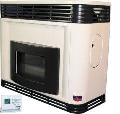 Lampart GLE50p-1PRO parapetes látvány gázkonvektor programozható termosztáttal parapet nélkül