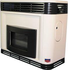 FÉG EXCLUSIVE 5.5s parapetes látvány gázkonvektor / konvektor szögletes díszelemmel parapet nélkül